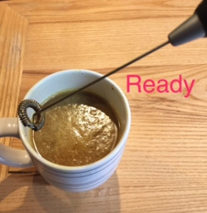 Bulletproof coffee image prior to being whipped