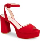 Red Theresa Platform Sandal by Chinese Laundry