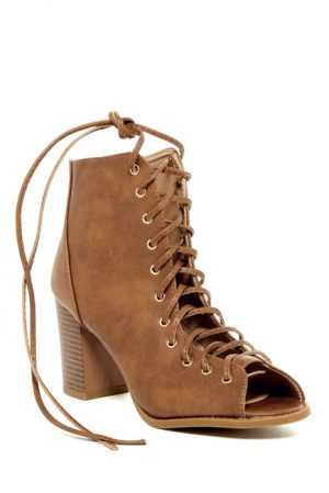 Top Moda Palm Lace-up Bootie