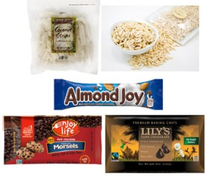 Ingredients for Almond Joy snack