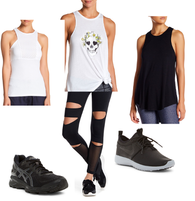 Black and White Fitness Outfit