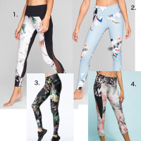 Floral Leggings - the Softer Side of Fitness