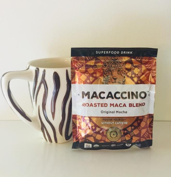 Macaccino package with Zebra coffee mug