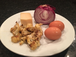 image of Roasted Cauliflower, Eggs, Onion, and Parmesan Cheese
