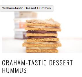 Graham-tastic dessert hummus