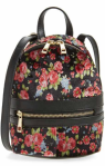 Mini Floral Velvet Convertible Backpack