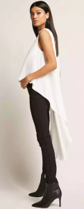 High-low mock neck top - $38