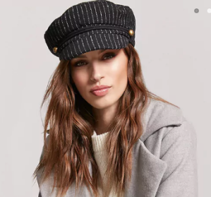 Pinstripe Cabby Hat - $12.90