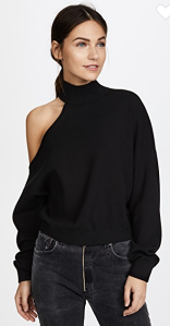 alice + olivia Finnigan One Shoulder Slouchy Pullover $265.00