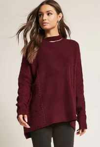Cut-Out Neck Sweater - $48