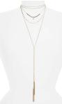Topshop Multistrand Tassel Necklace