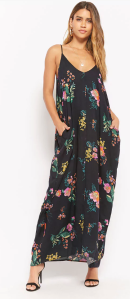 Floral Cami Cocoon Dress