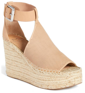 Annie Perforated Espadrille Platform Wedge MARC FISHER LTD