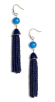Beaded Tassel Drop Earrings by Halogen