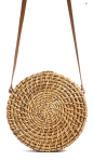 Circle Straw Crossbody