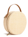Round Straw Crossbody