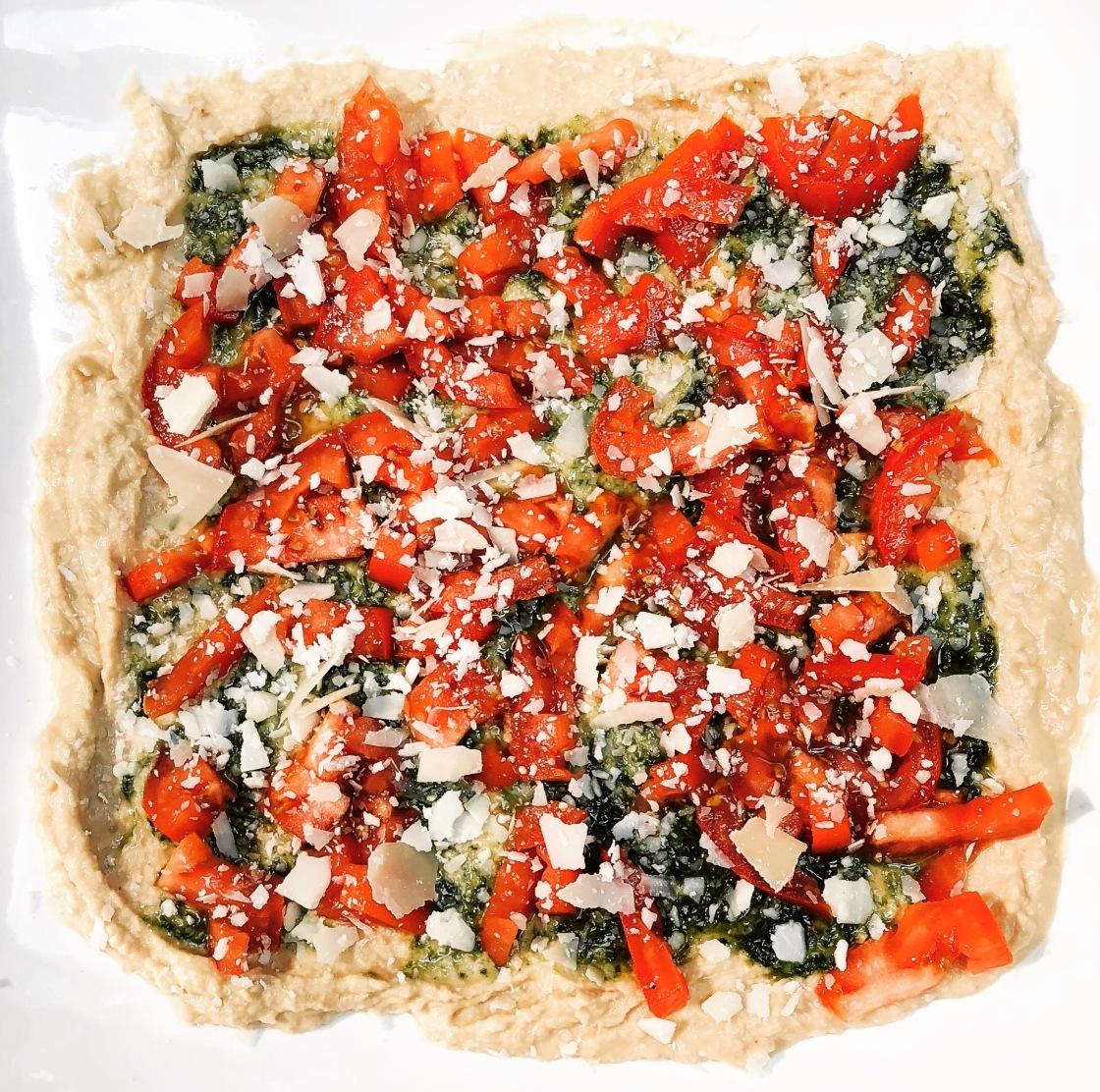 Tomato Basil Parmigiana Hummus