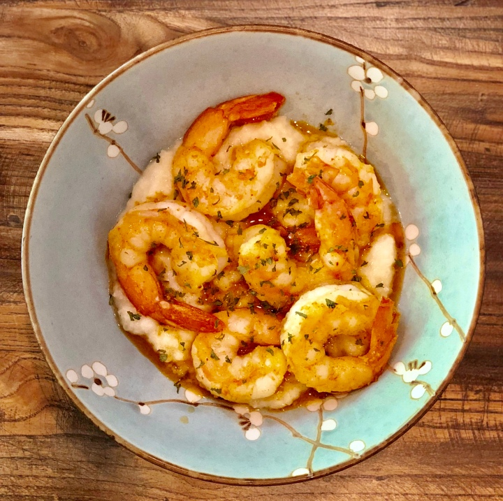 Shrimp and Cauliflower Grits