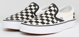 Vans Classic slip on sneakers in checkerboard