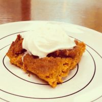 Cinnamon Sweet Potato Blondies