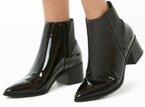 Faux Patent Leather Booties $29