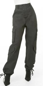 Twill Wide-Leg Utility Pants $35