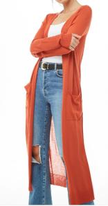 Pocket Duster Cardigan $17.90