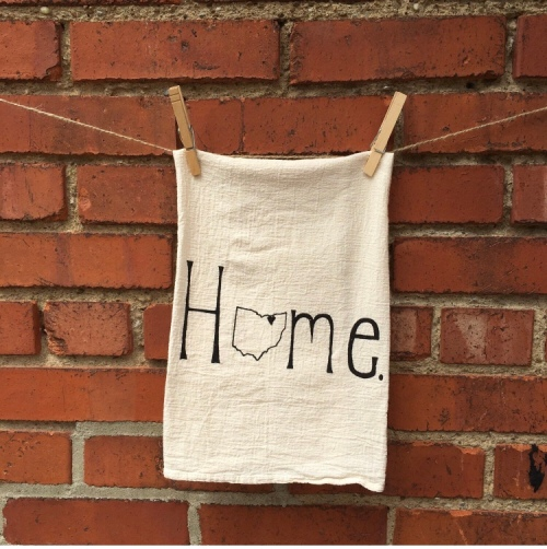 Home Ohio Tea Towel