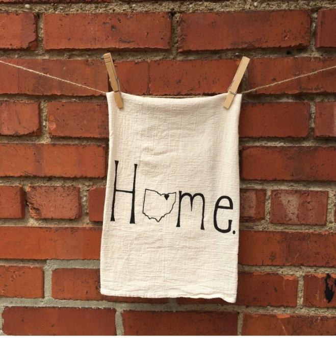 Home Ohio Tea Towel