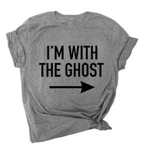I'm With the Ghost tee
