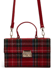 Plaid Box Satchel