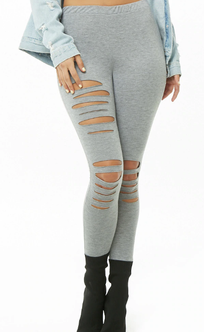Distressed French Terry Joggers - $10