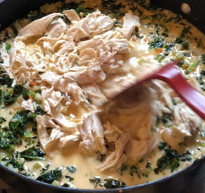 Shredded Chicken for Coconut Curry Chicken