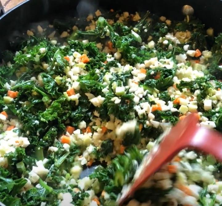 Saute Cauliflower and Kale