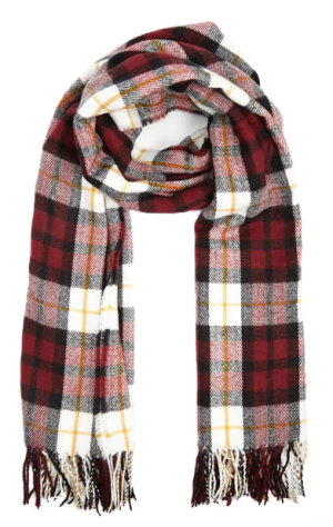 PLAID FLANNEL OBLONG SCARF