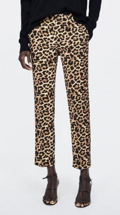 ANIMAL PRINT CHINO PANTS