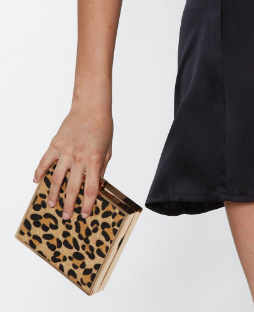Want for Box Sake Leopard Bag