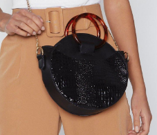 WANT Circle the Block Croc Shoulder Bag