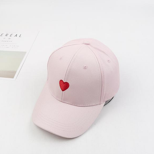 Embroidered Heart Baseball Cap