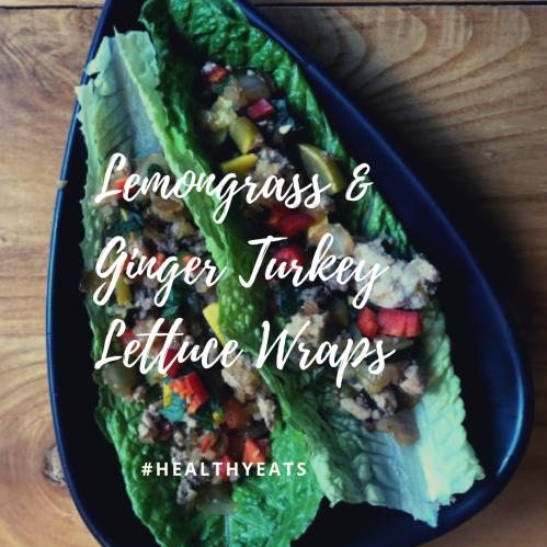 Lemongrass and Ginger Turkey Lettuce Wraps